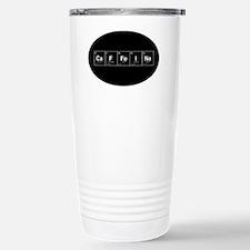 Oval -CaFFeINe - Black  Travel Mug