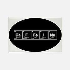 Oval -CaFFeINe - Black w White Le Rectangle Magnet
