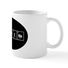 Oval -CaFFeINe - Black w White Letterin Mug