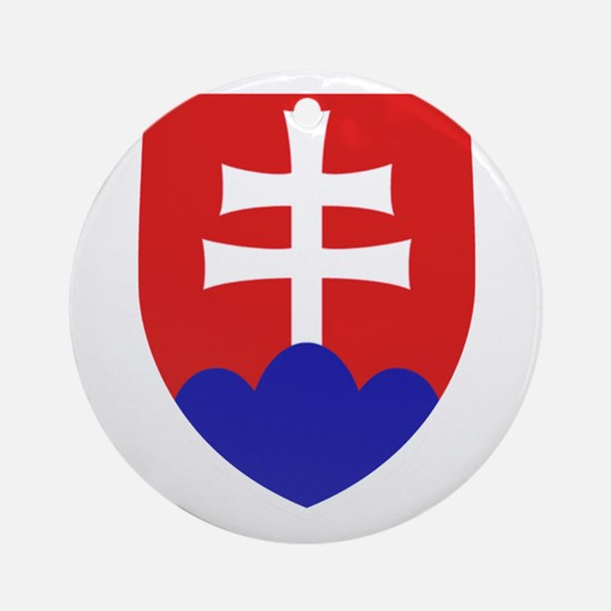 Slovakia Coat of Arms Round Ornament
