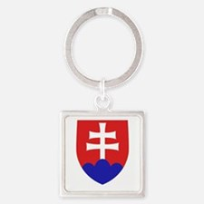 Slovakia Coat of Arms Square Keychain