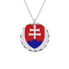Slovakia Coat of Arms Necklace