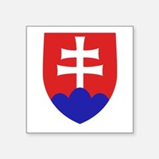 "Slovakia Coat of Arms Square Sticker 3"" x 3"""
