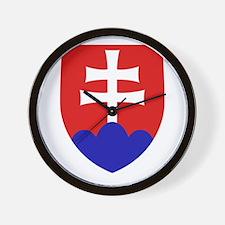 Slovakia Coat of Arms Wall Clock