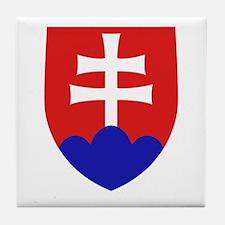 Slovakia Coat of Arms Tile Coaster