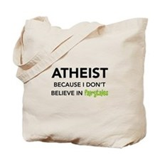 Atheist vs. Fairytales Tote Bag