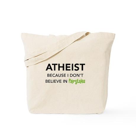 Atheist vs. Fairytales Tote Bag