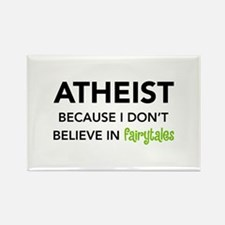 Atheist vs. Fairytales Rectangle Magnet