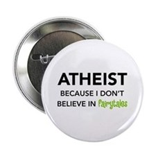 """Atheist vs. Fairytales 2.25"""" Button (10 pack)"""