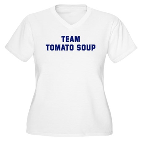 Team TOMATO SOUP Women's Plus Size V-Neck T-Shirt