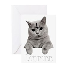 LUCIPURR Greeting Card