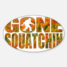 Gone Squatchin *Fall Foliage Forest Decal