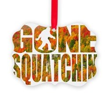 Gone Squatchin *Fall Foliage Fore Ornament