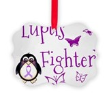Lupus awareness Picture Frame Ornaments