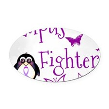 Lupus Fighter Oval Car Magnet