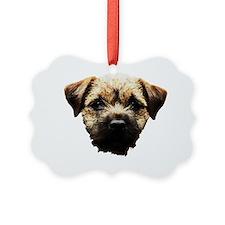 Border Terrier Picture Ornament