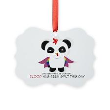 Chicken Panda Ornament