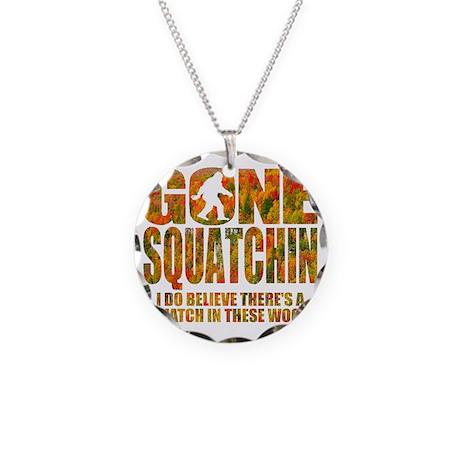 Gone Squatchin *Fall Foliage Necklace Circle Charm