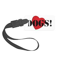 Love Dogs Stencil Style design Luggage Tag