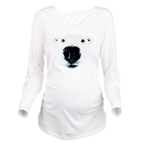 Polar Near Sniff Long Sleeve Maternity T-Shirt