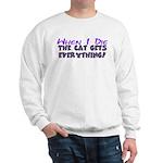 When I Die - Cat Sweatshirt