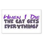 When I Die - Cat Rectangle Sticker