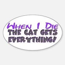 When I Die - Cat Oval Decal