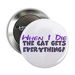 When I Die - Cat Button