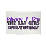 When I Die - Cat Rectangle Magnet