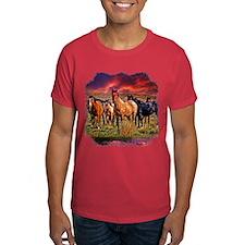 Sunset Horses T-Shirt