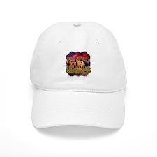 Sunset Horses Baseball Cap