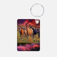 Sunset Horses Keychains