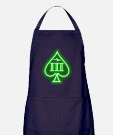 Three Percent - Spade Green Glow Apron (dark)