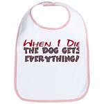When I Die- Dog Bib