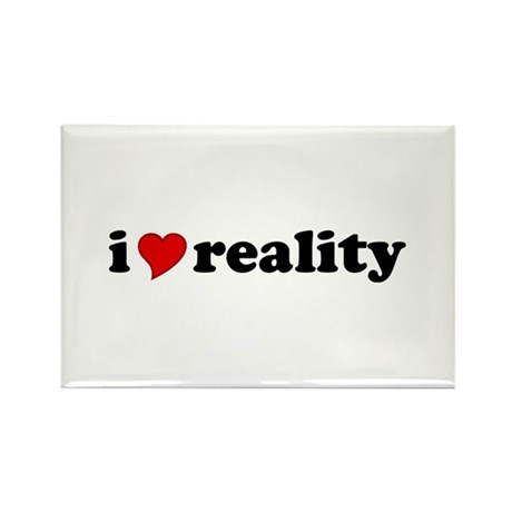 I Love Reality Rectangle Magnet (100 pack)