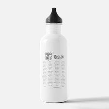 US Route 101 - Oregon  Water Bottle
