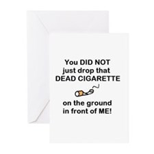 DON'T DROP DEAD CIGARETTES Greeting Cards (Package