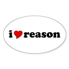 I Love Reason Oval Decal