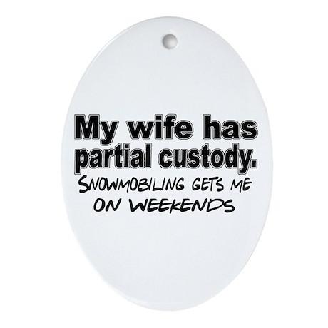 Partial Custody Oval Ornament