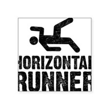 "Horizontal Runner Square Sticker 3"" x 3"""