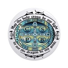 Medal of St Benedict Round Ornament