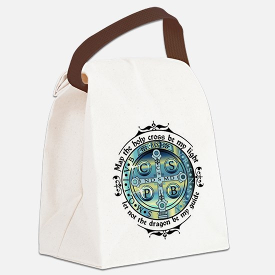 Medal of St Benedict Canvas Lunch Bag