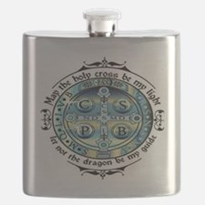 Medal of St Benedict Flask