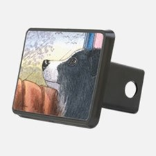 Border Collie dog waiting  Hitch Cover