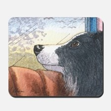 Border Collie dog waiting in car Mousepad