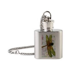 Voice of the Heart Dragonfly Flask Necklace