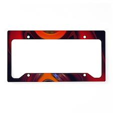 Abstract Fractal Amber Goddes License Plate Holder