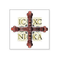 """the Cross Square Sticker 3"""" x 3"""""""