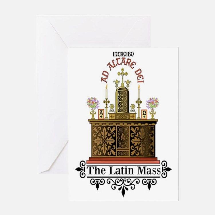 As Altare Dei Latin Mass Greeting Card