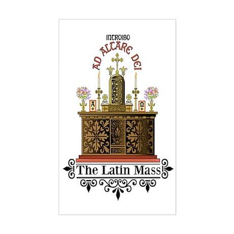 As Altare Dei Latin Mass Sticker (Rectangle)